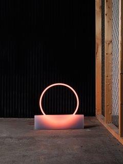 A smaller lighting piece from Sabine Marcelis's VOIE light series #1.