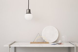 A desk organizer and wall mirror collection by Kristina Krogh.