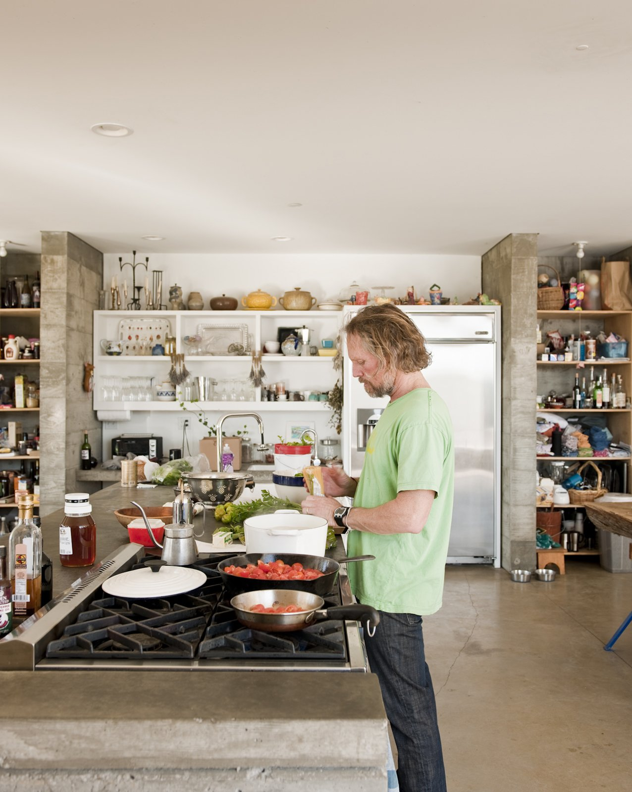 Many of the culinary craft projects are an extension of Ben's work as an artist and dealer of antiquarian books about food and wine.  Photo 14 of 18 in A Sonoma Prefab That Celebrates a Family's Passion for Cooking