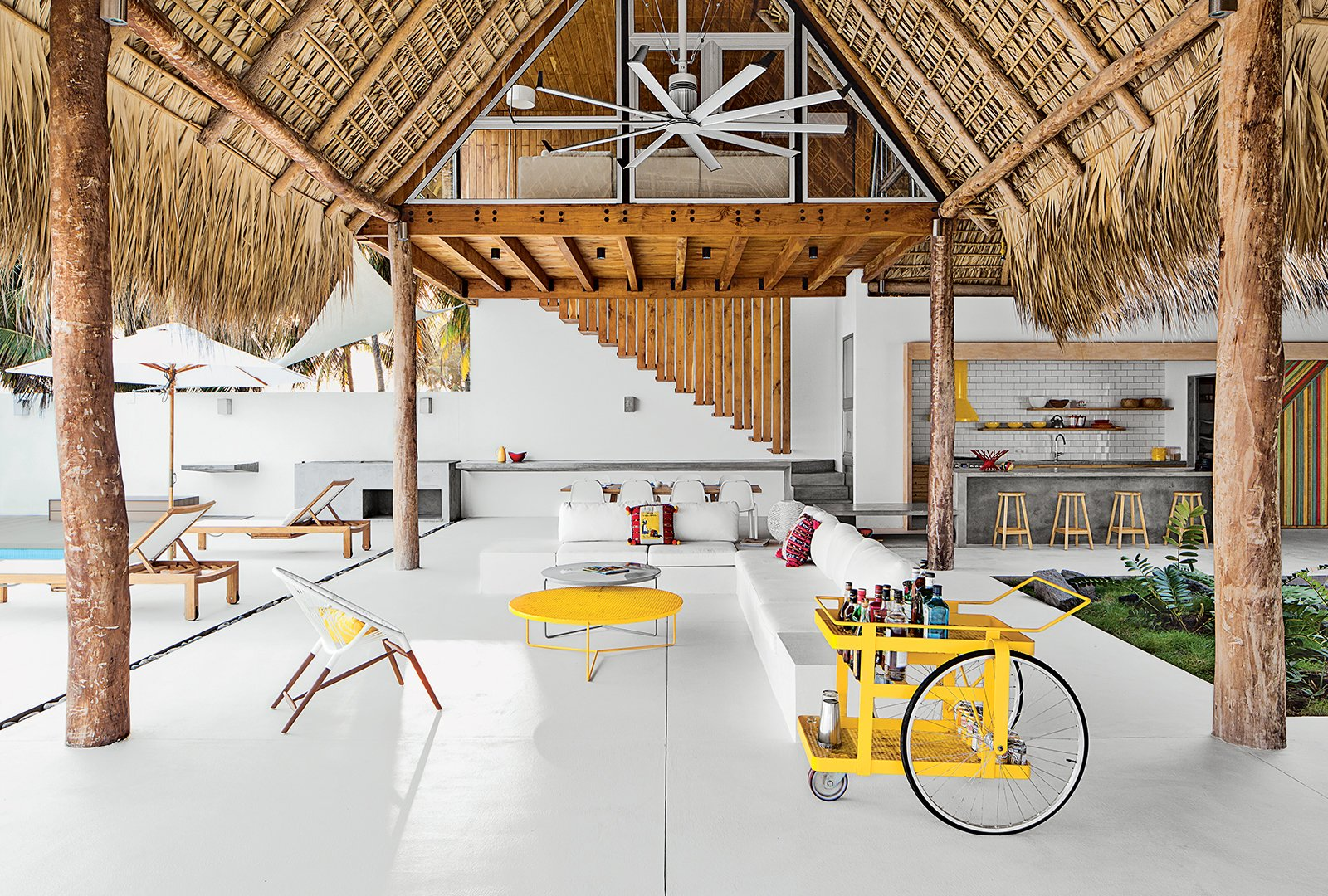 The Living Dining Area Of A Beach House Designed By El Salvador Firm Cincopatasalgato Features