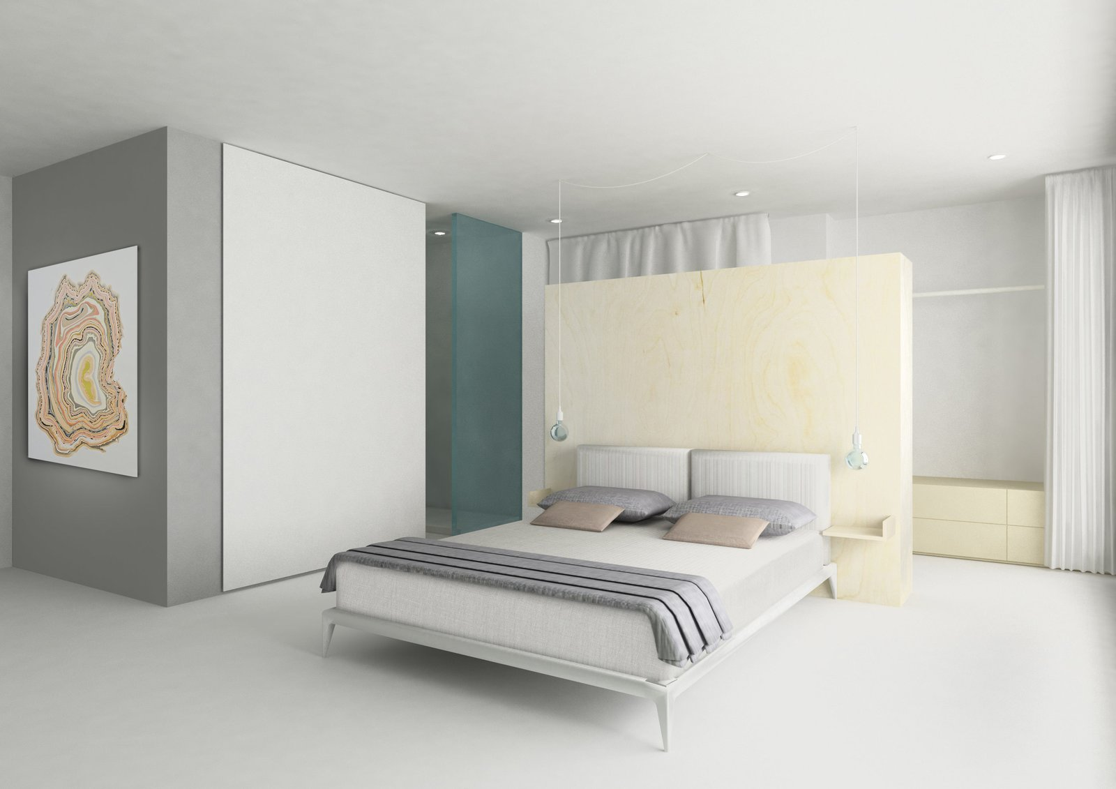 The bedroom of a private residence by Herrenknecht in Zurich.  Photo 5 of 6 in The Globetrotting Designer That Takes on Challenges of All Scales