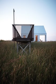 "An Off-Grid Home That Relies on the Sun and the Wind - Photo 8 of 10 - When building such a modest structure in a large landscape, designer and client often had to defend their vision to their collaborators. ""We knew this house was going to be for Maggie and she would live there alone,"" designer Lauren Moffitt says. ""But people are always projecting for future resale. Putting in the smallest size of anything—to any subcontractor, it's just not reasonable."""