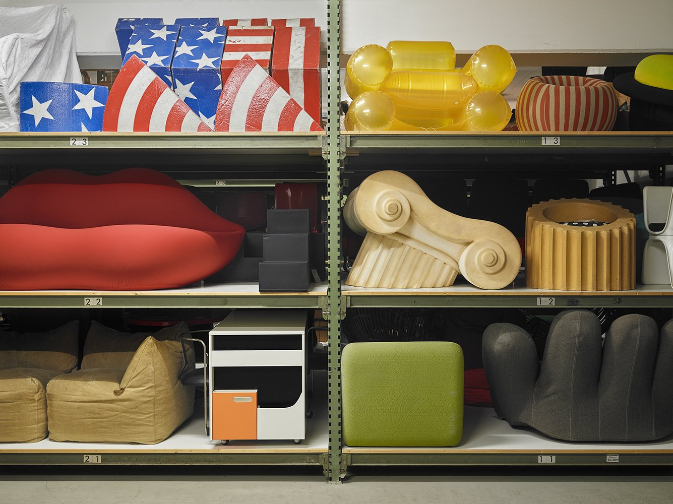 The company's collection spans more than 7,000 pieces, including a selection of Pop art pieces like Gufram's famous lip couch. <span style=  Photo 4 of 6 in Vitra's Newest Space is a Furniture Fanatic's Fantasy