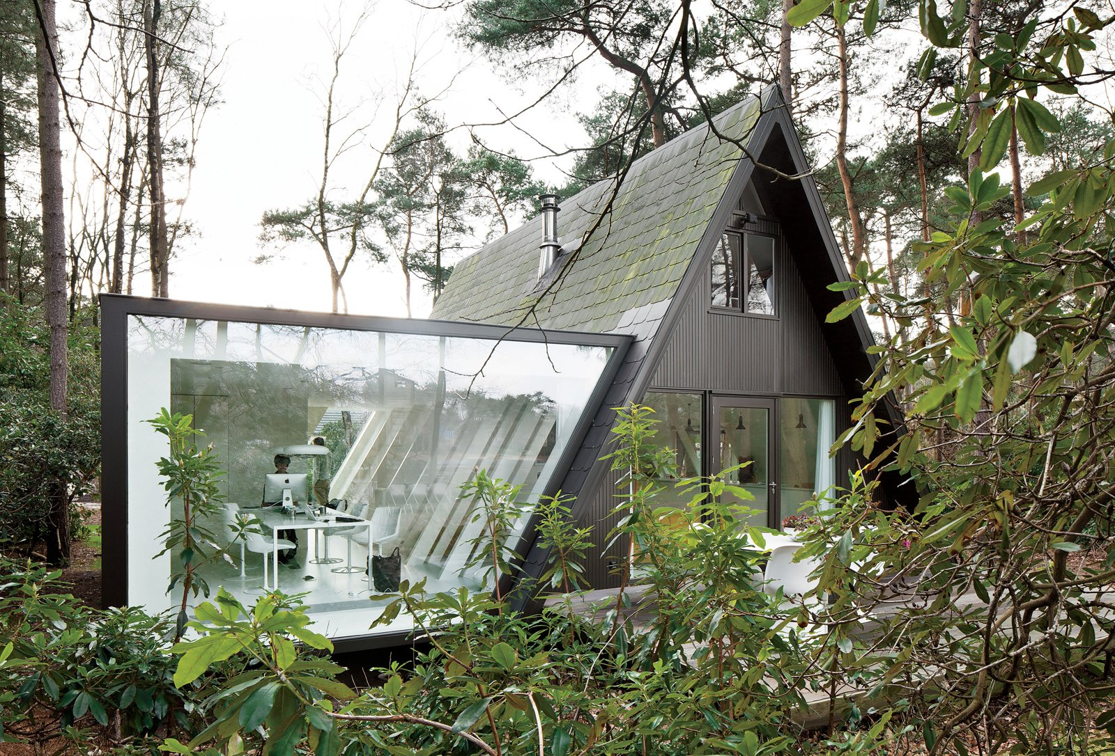 Photo 1 of 5 in This Minimal Addition Looks Magical in the Belgian Forest