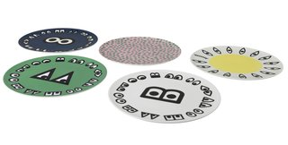 A collection of colorful plates ($5.99 each) combine graphic elements from Wondermooi characters.