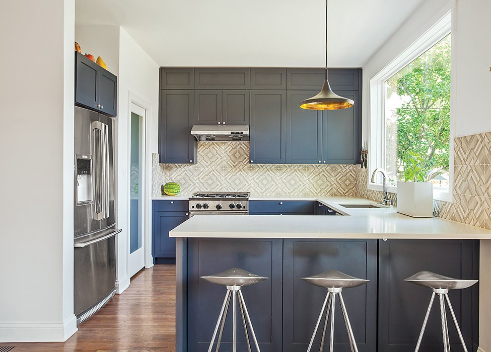 Photo 1 of 6 in This Farmhouse-Style Home Gets a Clever and Geometric Update