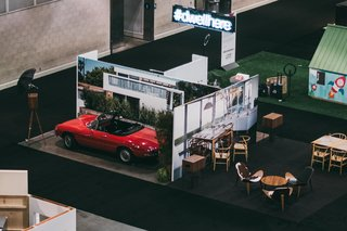 Right when you enter the show floor of Dwell on Design LA, you'll see our immersive booth that brings to life four vignettes from the pages of Dwell. Stop by to learn about the new Dwell and to take a photo that you can walk away with.