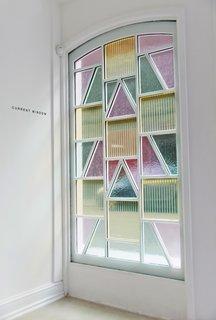 Marjan van Aubel's Current window, which biomimics photosynthesis to harvest solar energy indoors.