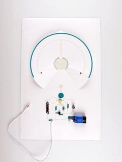 Coralie Gourguechon's paper speaker, powered by a single nine-volt battery.