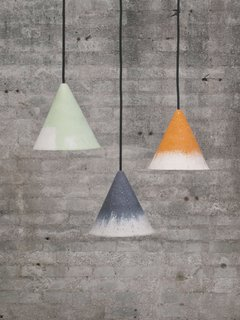 The Gesso collection features lamps made from limestone and bio-resin.
