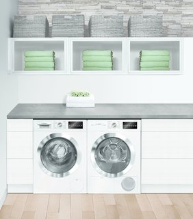 "Together, Bosch's sleek 24"" kitchen and laundry suites address the trend toward smaller living by extending modern, European-style design to even the closest quarters."