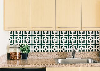 Another increasingly popular option is kitchens that are not static, but can be changed over time. Self-adhesive coverings, like the Squares Squared wallpaper by Chasing Paper ($30 per four-by-two-foot panel), can be swapped out seasonally.