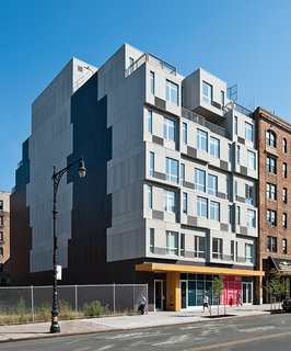 Since it relies on regular, repeated modules that are quickly produced, prefab is a viable option for affordable housing. A new residential building in upper Manhattan, dubbed The Stack and designed by the architecture firm Gluck+, employed offsite prefabrication methods to create a high-quality, affordable housing solution that was raised onsite in only 19 days.