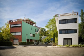 The Cité Frugès de Pessac is an early housing project designed by the architect. Throughout his career, Le Corbusier created dynamic and alternative models for living in the city. Although some projects were never realized, his built projects can be seen as exemplary cases for what residential buildings can be.