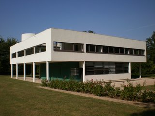 As one of the architect's most recognizable achievements, Villa Savoye, famously realized Le Corbusier's <i>piloti</i> concept, a series of columns support the upper floor while providing the ground floor to have open space.