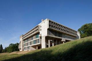 Located near Lyon, France, the Couvent Sainte-Marie de la Tourette is known for its monumental concrete form and integration into the landscape.