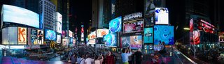 Times Squares Transforms Into a Surreal Fish Tank at Night