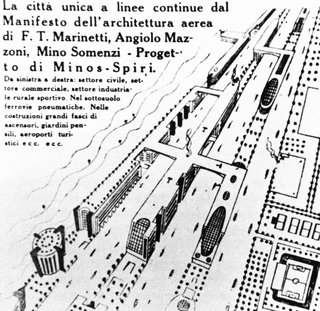 Manifesto of Aerial Architecture by F.T. Marinetti, Angiolo Mazzoni, Mino Somenzi (1934)