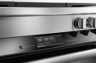 Sleek digital controls characterize the Range Series. Miele's MasterChef automatic programs will help users cook a variety of dishes, from meat to bread—there are 15 bread recipes included.
