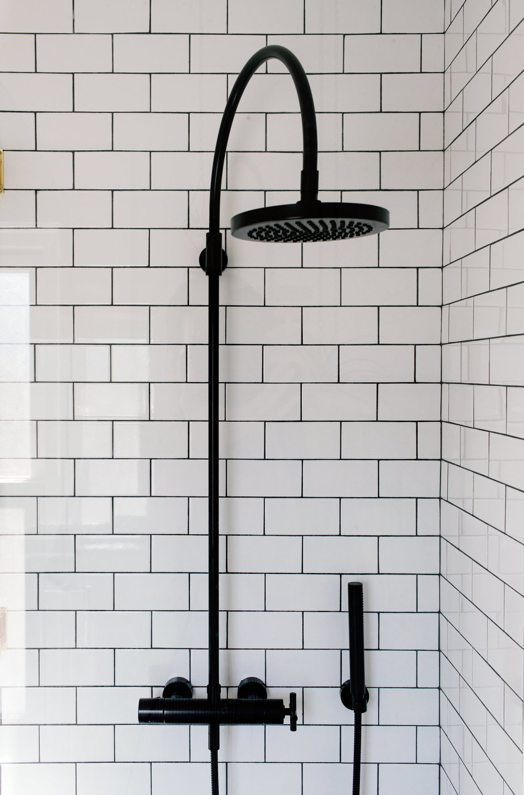 Bath Room and Subway Tile Wall TK  Photo 8 of 10 in A 1925 Portland Home Is a Rad Mashup of 20th-Century Styles