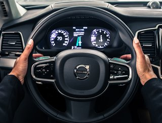The interface of the XC90 SUV by Volvo. This will be a base vehicle that both the Volvo and Uber teams will be collaborating on.