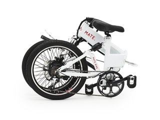 The MATE electric bike is completely foldable.