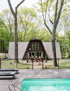 "In search of relaxation, Cain Semrad and Damen Seminero happened instead upon a home improvement challenge: a pine-covered ""rhombus-frame"" house built in 1967."