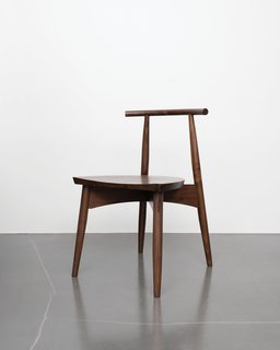 Eight simple components assembled by traditional joinery make up the Portland chair, so-called for the city name shared by Oregon and Maine, where Phloem Studio and Thos. Moser's headquarters are respectively based.