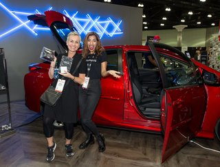 Toyota Prius, our ride and drive partner for the show, not only displayed models on the show floor, but also encouraged interested attendees to take one for a spin around the neighborhood.