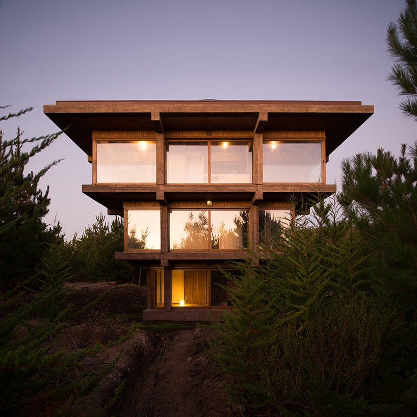 Via designboom, photo by Pezo von Ellrichshausen.  Photo 2 of 11 in 10 Inspiring Houses