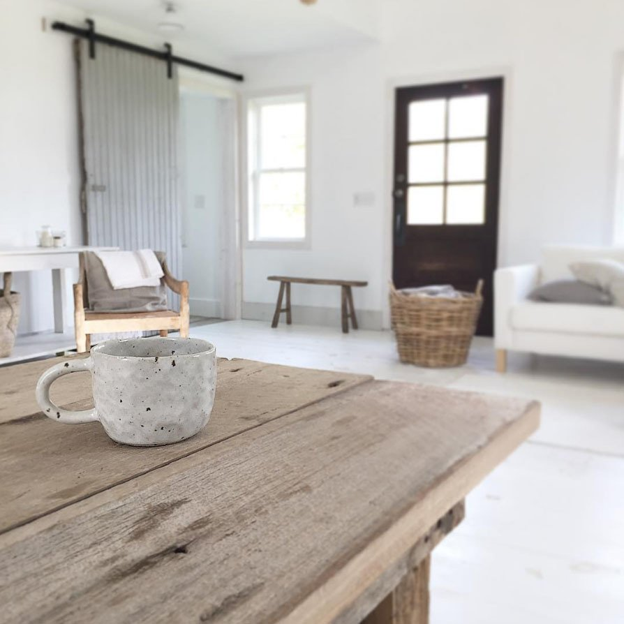 While enjoying a cup of coffee, Wendricks captures a view of the living room.  Photo 5 of 5 in Instagram We Love: Modern-Rustic Goals
