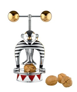 While a popular ballet might have first popularized this everyday object, Wanders' version is a charming take. Marcello the Strongman is one of the several limited-edition designs created for the Circus Collection. The characterization makes the object quite the performance. After placing the nut between his feet on the base, the weights above his head can be turned to crack open and snack.