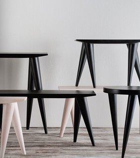Tables by Tekura, helmed by Ghana-based designer Audrey Forson, who is represented by Weendu Design.