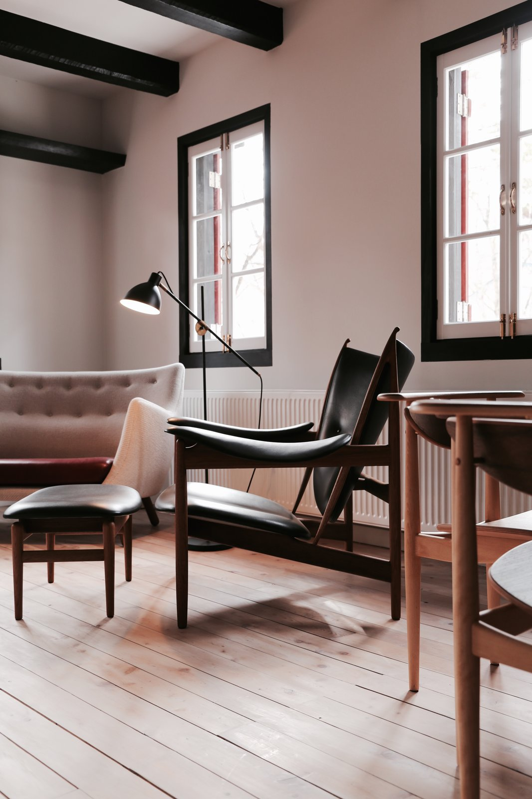 Living Room and Chair  Photo 3 of 5 in Finn Juhl Design Hotel Opens in Nagano, Japan