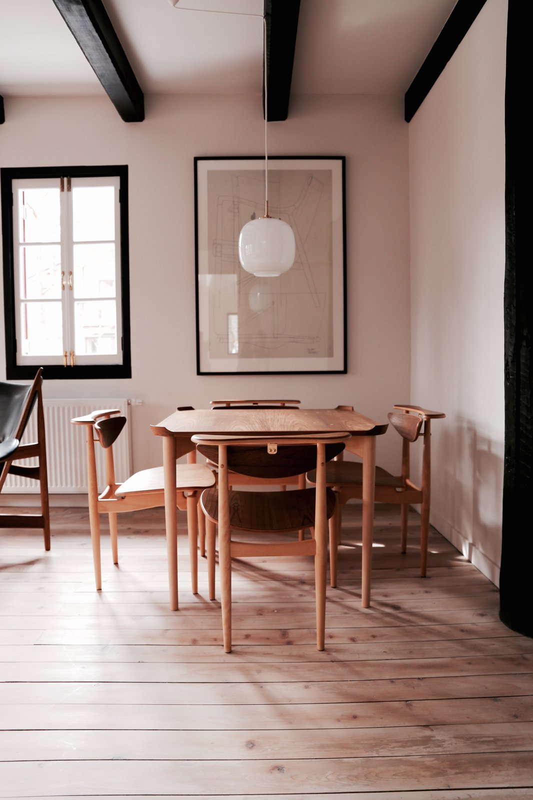 Dining Room, Chair, Table, and Pendant Lighting  Photo 5 of 5 in Finn Juhl Design Hotel Opens in Nagano, Japan