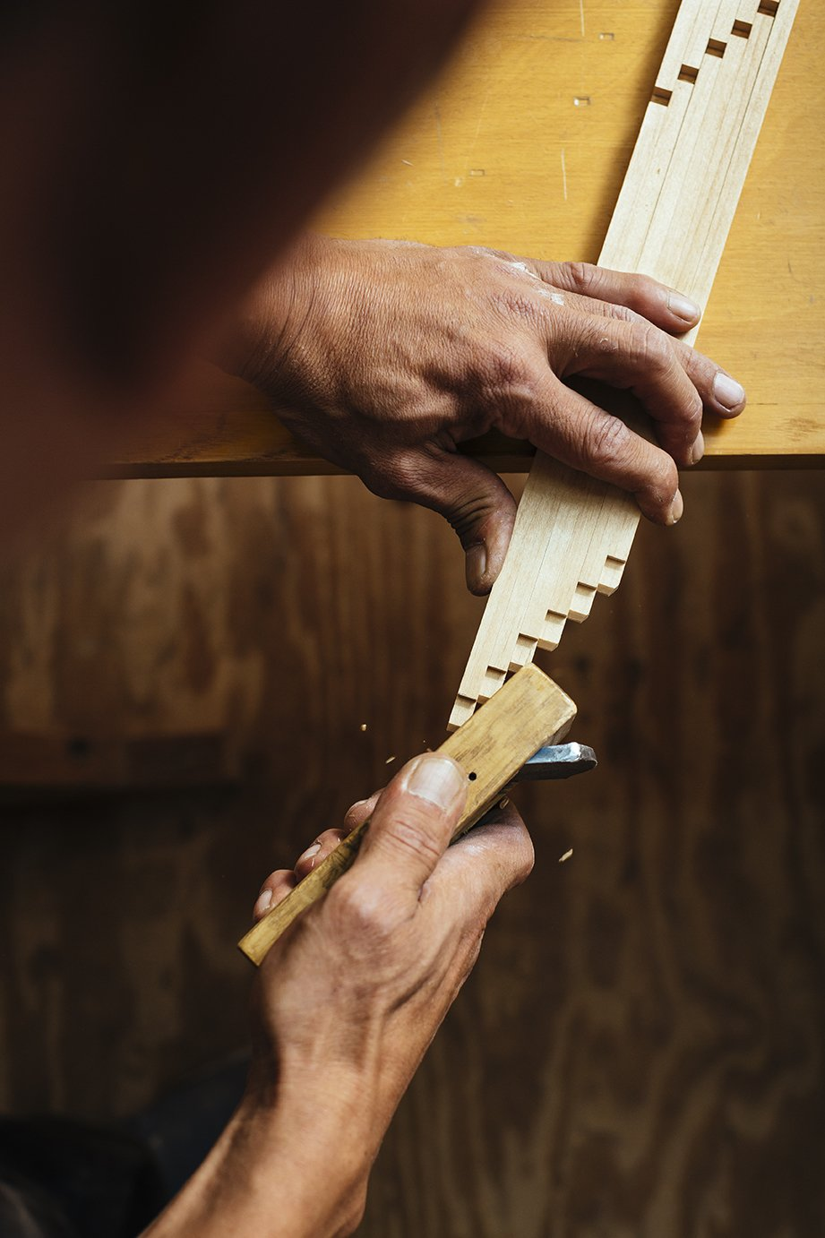 Founded in 1951, Miya Shoji uses traditional Japanese furniture-building techniques to craft its signature shoji screens. Carpenters at its 3,000-square-foot facility in Queens fashion lap joints and tenons by hand to fit the pieces together.  Photo 2 of 7 in Undivided Attention