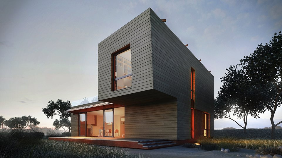 Exterior, Prefab Building Type, Wood Siding Material, House Building Type, and Flat RoofLine Project Name: Paradigm Series  Website: http://methodhomes.net/  Photo 4 of 23 in 22 Modern Prefab Companies That Every Homebuyer Can Rely On