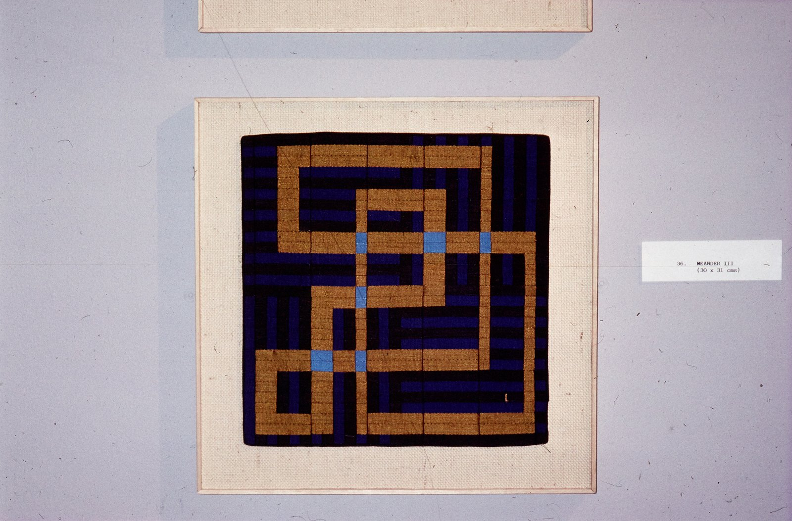 """In the 1970s, searching for another outlet for her creativity, Lucienne began to produce one-of-a-kind silk mosaics, like """"Meander 3"""" (1990). Image courtesy The Robin & Lucienne Day Foundation.  Photo 3 of 5 in All in a Day's Work"""
