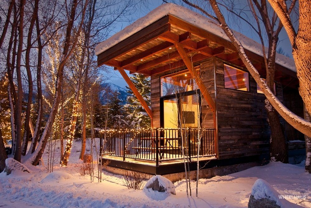 Exterior, Wood Siding Material, and Prefab Building Type Project Name: The Wedge Park Model RV  Photo 4 of 20 in 19 Modern Prefab Companies Perfect for Mountain Living