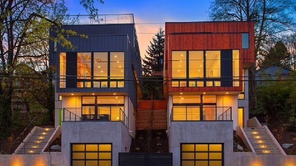 Photo 15 of 17 in 16 prefab shipping container home for Modern prefab homes seattle
