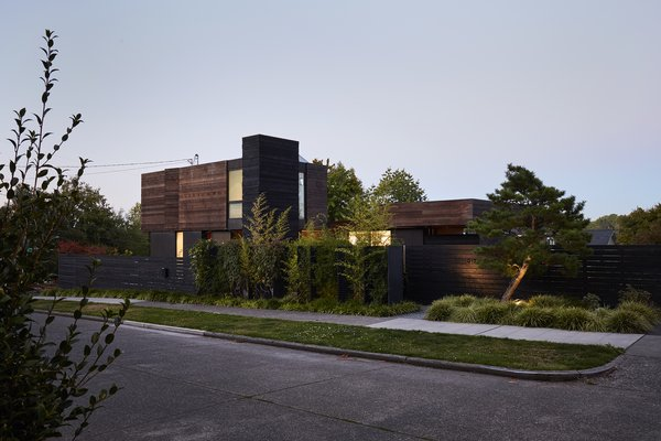 Outdoor, Front Yard, Trees, Grass, Hardscapes, and Walkways  Mid Century Homes from Greener Grass
