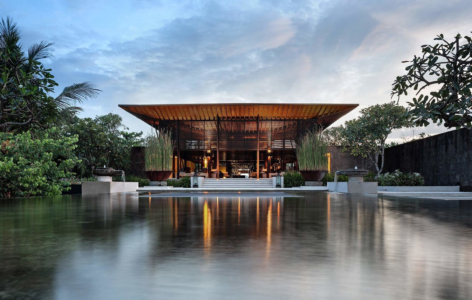 Designed, owned and operated by renowned Singaporean architect Soo K. Chan and his wife Ling Fu, Soori Bali's 48 contemporary villas are sustainably built with stones sourced from nearby quarries and ceramic and terracotta décor made by Balinese artisans.  Photo 10 of 11 in Connect With Bali's Tropical Landscape at One of these Modern Villas