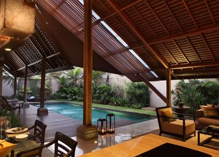 Tucked away in the coastal village of Canggu, Ametis Villa offers three different styles of villas that each come with their own kitchen, private pool, and a lush tropical garden.