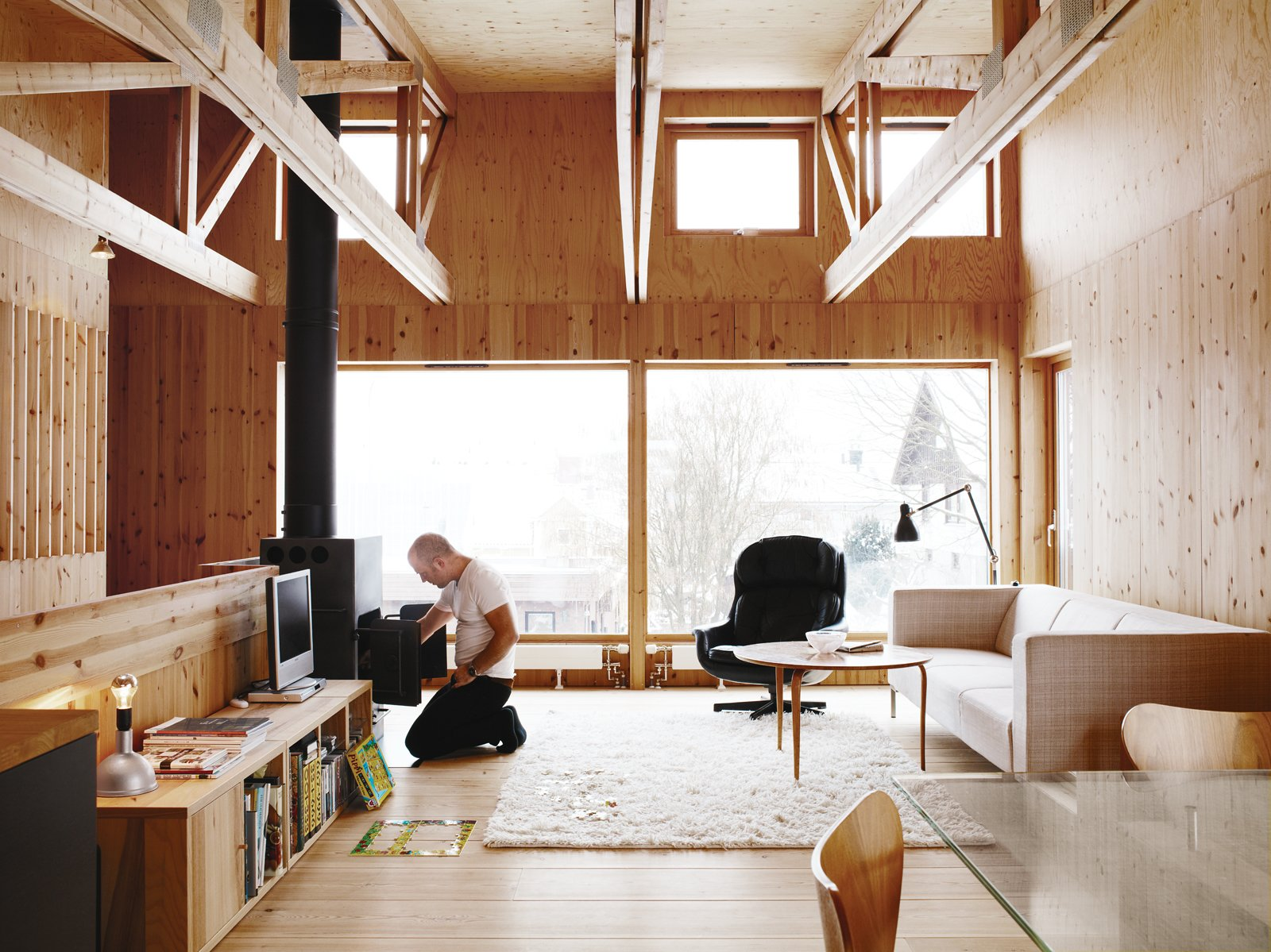 Articles about warm winter these wood clad interiors on Dwell.com