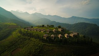 A sustainable lodge in Sapa, Northern Vietnam, Topas Ecolodge is an ideal base for exploring the Hoang Lien Son mountain range and meeting the people of the elusive hill tribes who live in the region's villages. The simple rooms come with balconies that offer stunning views of the mountainous landscape.