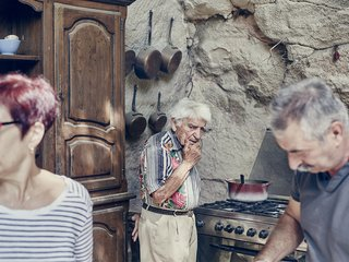 Marrying home cooking and an archaeological field trip, Mas de la Pyramide in Bouches-du-Rhône is probably the world's only restaurant found in an ancient Roman quarry. For proprietor and chef Lolo Mauron, the caves are both his business and his birthright. Lolo, 92, has spent his entire life here, surrounded by an incredible hodgepodge of old farm tools, collectible cars, and other bric-à-brac from the caverns' history.