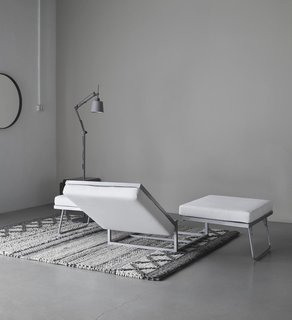 10 Functional Pieces For Small Space Living - Photo 6 of 11 - The Xtra ottoman is shown here in motion, folding out from an ottoman into a bed.