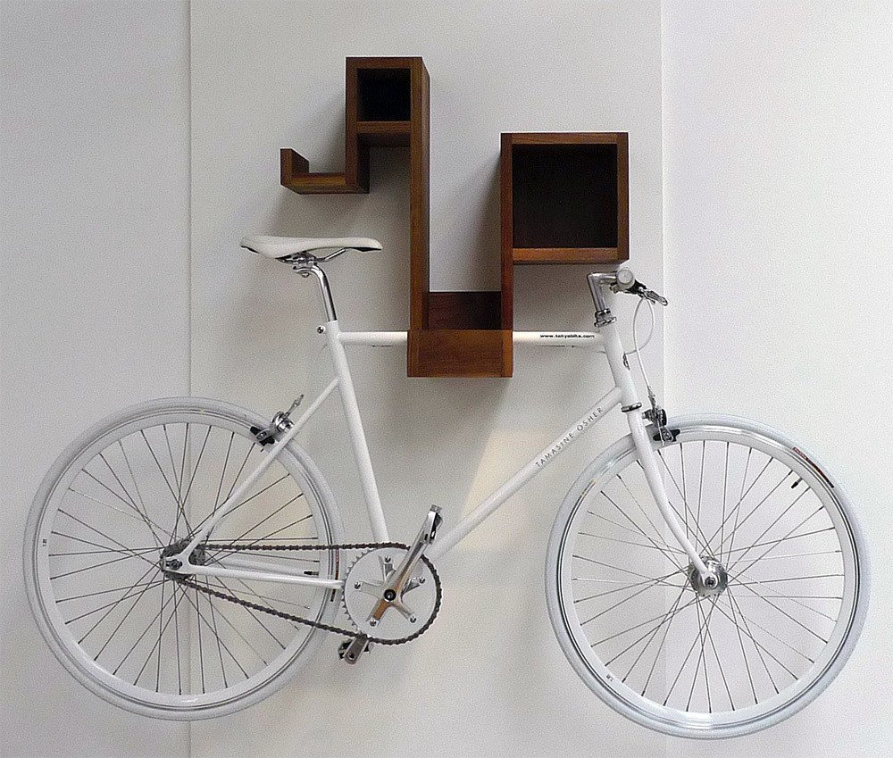 Storage Room and Shelves Storage Type A bicycle rack for the design-conscious cyclist—the Pedal Pod looks good with or without your bicycle. The multifunctional piece offers ample cubby space to stash odds and ends, and frees up floor space by storing your bike as well.  Photo 2 of 12 in 10 Functional Pieces For Small Space Living