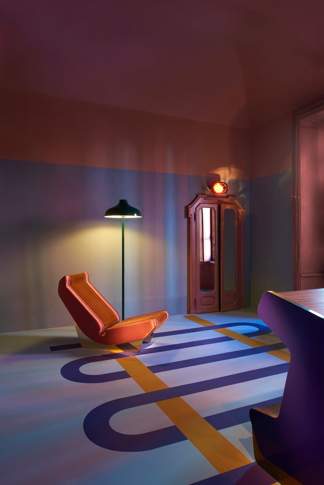 In the Brera design district, the 14-year-old Milan-based design group Dimorestudio styled two galleries as a retro, Art Deco  Photo 4 of 11 in The Best Things We Saw at Milan Design Week 2017