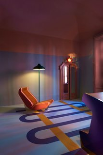 In the Brera design district, local group Dimorestudio transformed two galleries into retro, Art Deco–inspired wonderlands, complete with furniture and lighting.